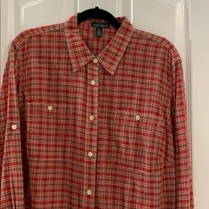 Lauren Jeans Co. Ralph Lauren Plaid Shirt 2X